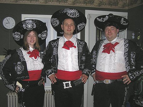 the three amigos this is now my all time favorite costume surpassing the drew carey mimi costume from 2001 all homemade by frankie the hats are