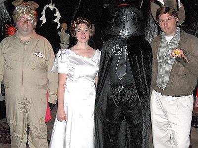 Barf, PrincessVespa , Dark Helmet & Captain LoneStarr Spider Woman